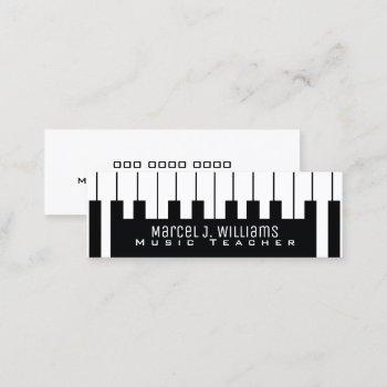 musician keyboard / piano-keys music teacher mini business card