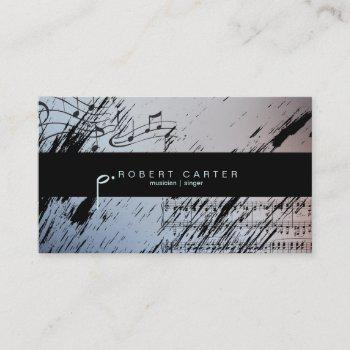 musician singer music teacher business card