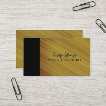 mustard yellow orange black paparazzi photographer business card