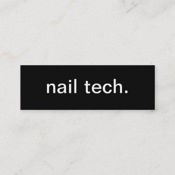 nail tech business card