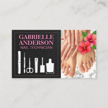 nail tech tools   manicure pedicure care business card