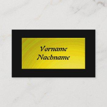 nameplate yellow business card
