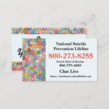 national suicide lifeline # business card