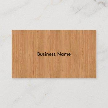 natural bamboo wood grain look business card