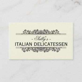 natural elements   delicatessen business card