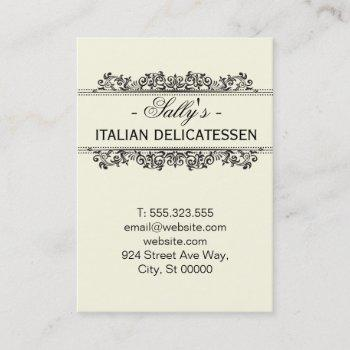 natural elements | delicatessen business card