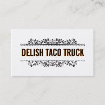 natural elements | food truck business card