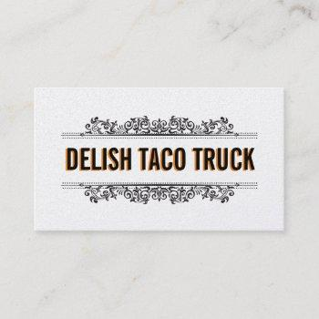 natural elements | food truck (menu option) business card