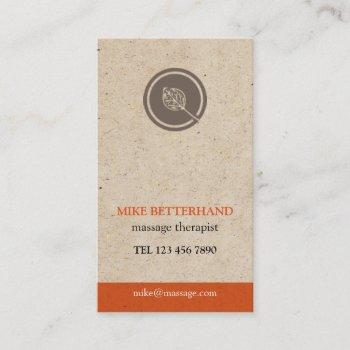 natural multi-purpose biz card (orange)