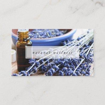 natural wellness lavender essential oils business card
