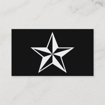 nautical star business card