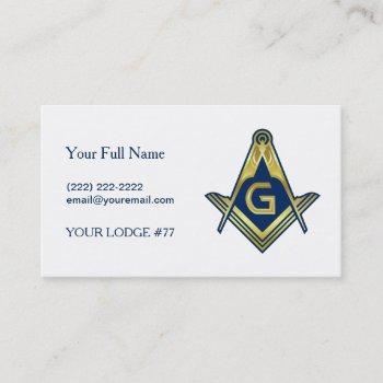 navy blue gold masonic business cards   freemason
