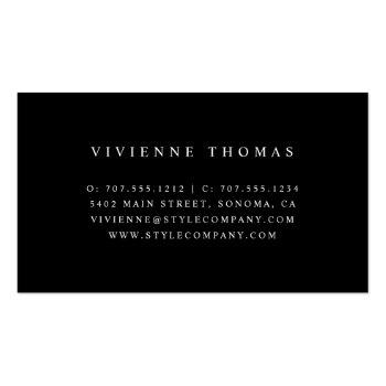 Small Needle & Thread | Seamstress Tailor Alterations Business Card Back View