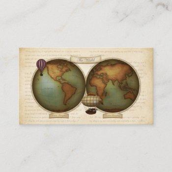 neo-victorian map personalized calling card