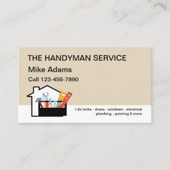 new handyman service business card