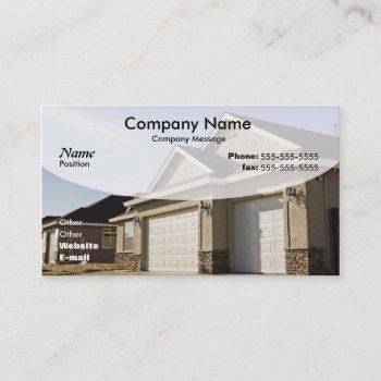 new house construction business card