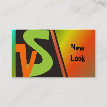 new look monogram business cards