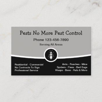 new pest control exterminating business card