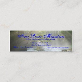 new river ministries profile card