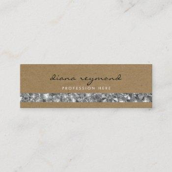 nice professional business card + gemstones stripe