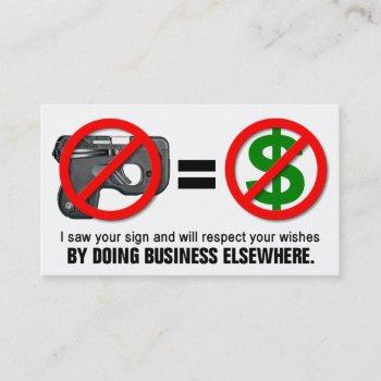 """no guns no money"" missouri ccw business card (1g)"