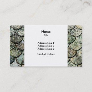 norwegian fish scale pattern slate roof business card