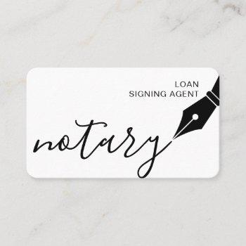 notary loan signing agent nib logo tax public business card