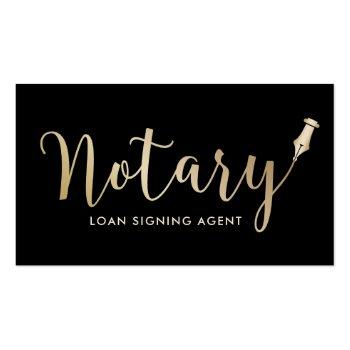Small Notary - Loan Signing Agent Professional Business Card Front View