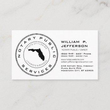 notary public florida business card