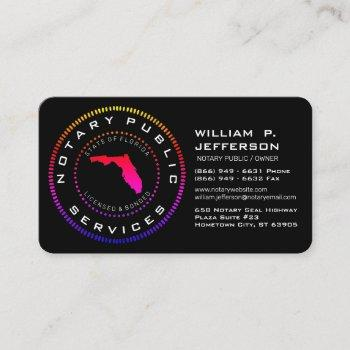 notary public florida ll business card