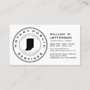 notary public indiana business card