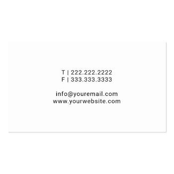 Small Notary Public Minimalist Script Signature Business Card Back View