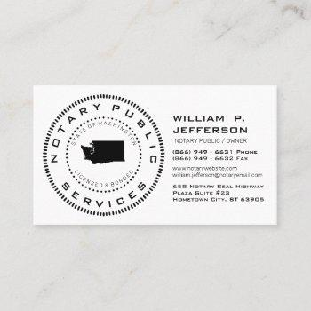 notary public washington business card