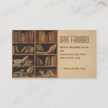 novelist book writer author business card