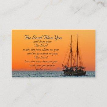 numbers 6 24-26 the lord bless you and keep you business card