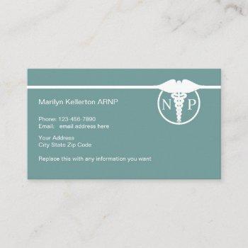 nurse practitioner design business card