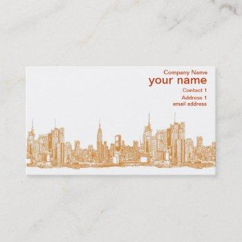 nyc in orange business card