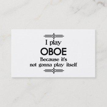 oboe - play itself funny deco music business card