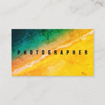 ocean beach photo cover business card