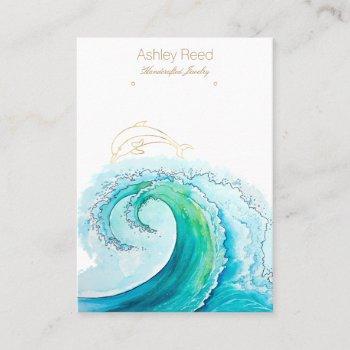 ocean inspired jewelry display card