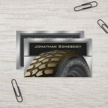 off roaders tyre business card template 13
