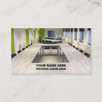 office, residential, commercial, cleaning service business card