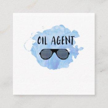 oil agent square business card