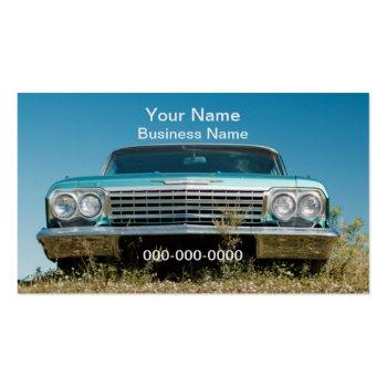 Small Old Car Business Card Front View