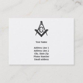 old style freemason business card