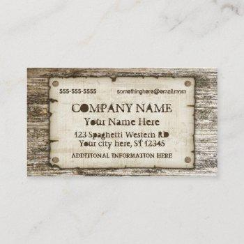 old west vintage business cards