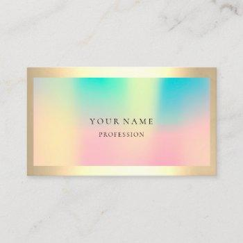 ombre framed simply professional  gold ombre pearl business card