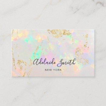 opal stone business card