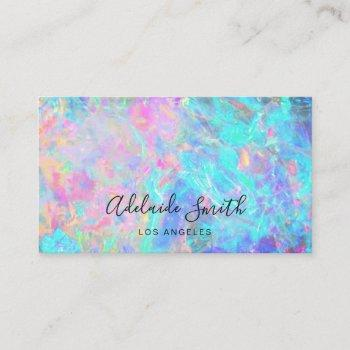 opal stone texture business card