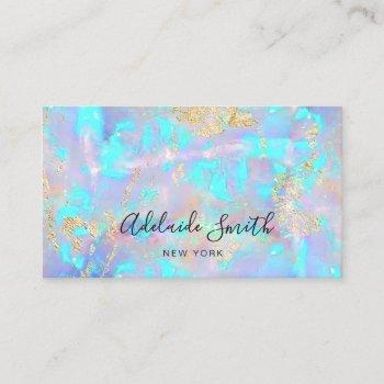 opal texture business card